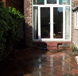 Paving in courtyard